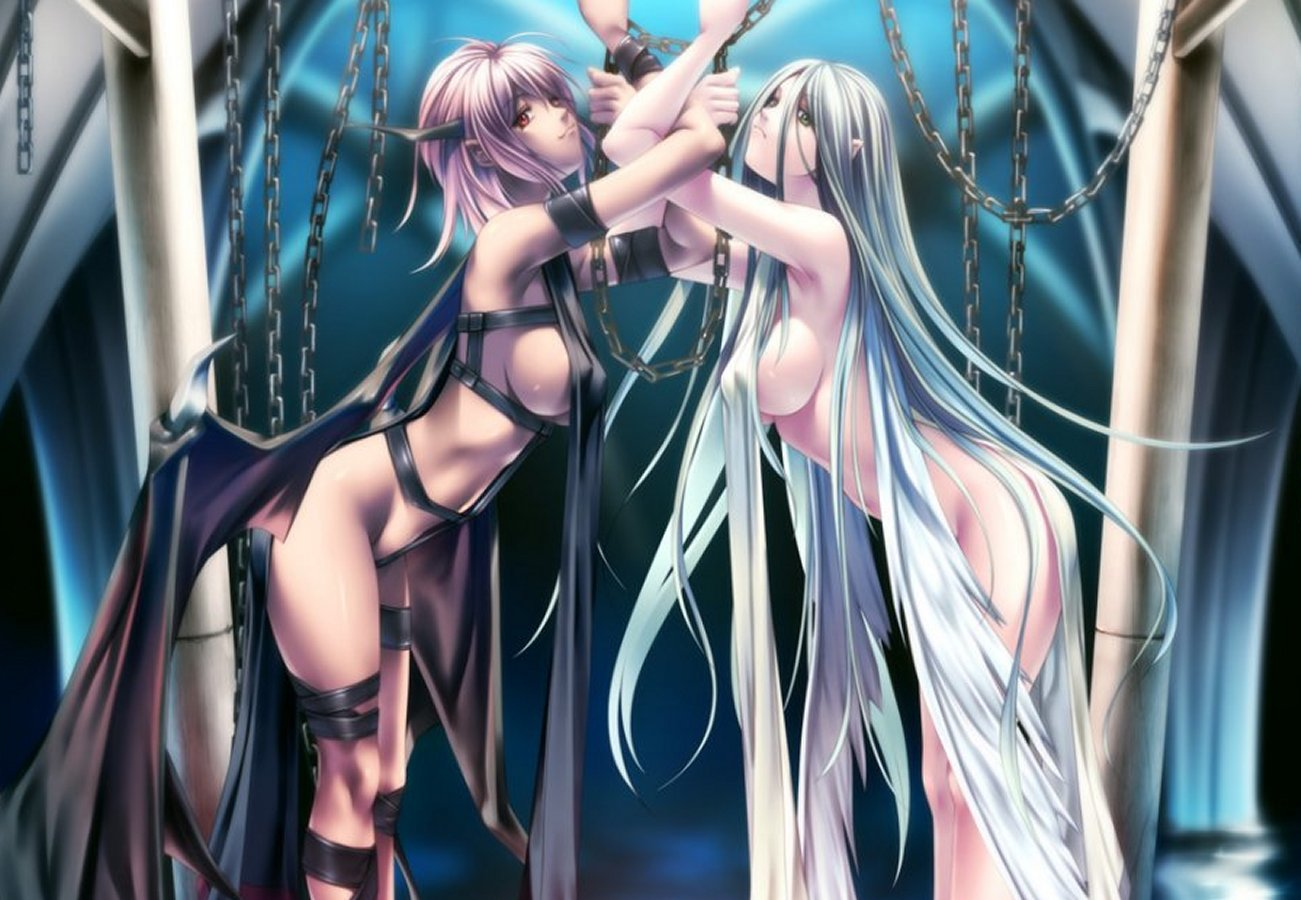 Demons and angels nude anime pic