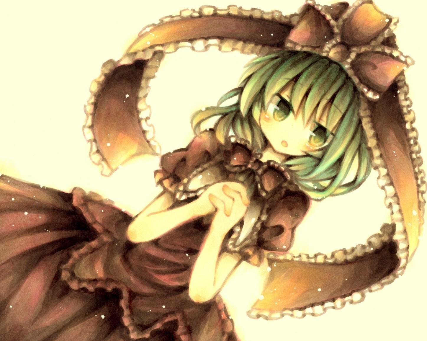 green_eyes green_hair kagiyama_hina ribbons touhou wiriam07