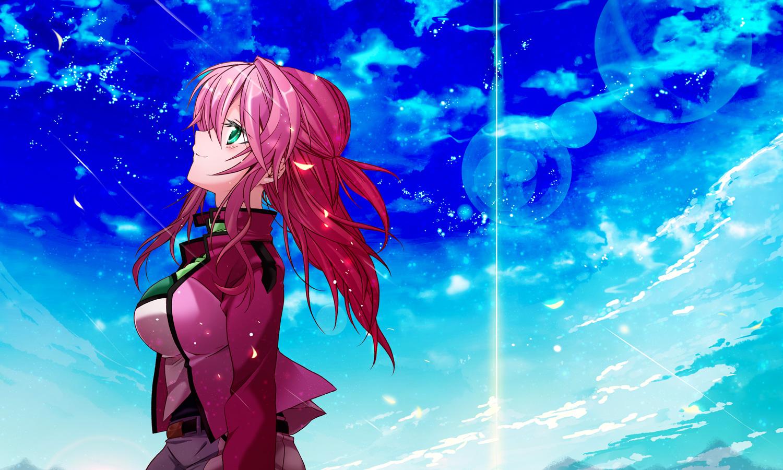 feldt_grace mobile_suit_gundam mobile_suit_gundam_00 riku_yama sky