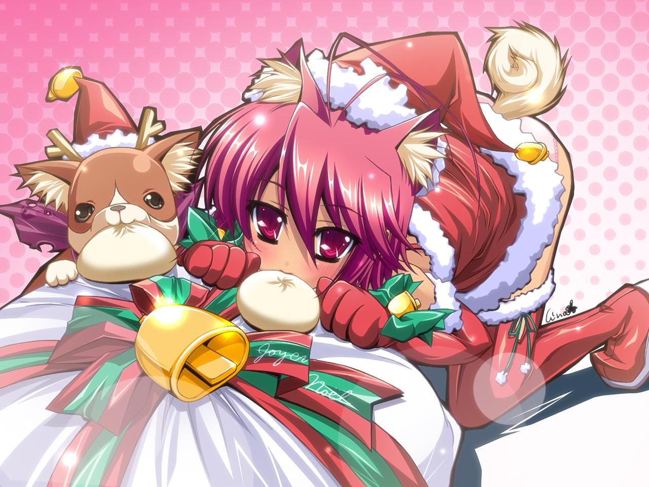 christmas doggirl hat panties santa_costume santa_hat tagme underwear