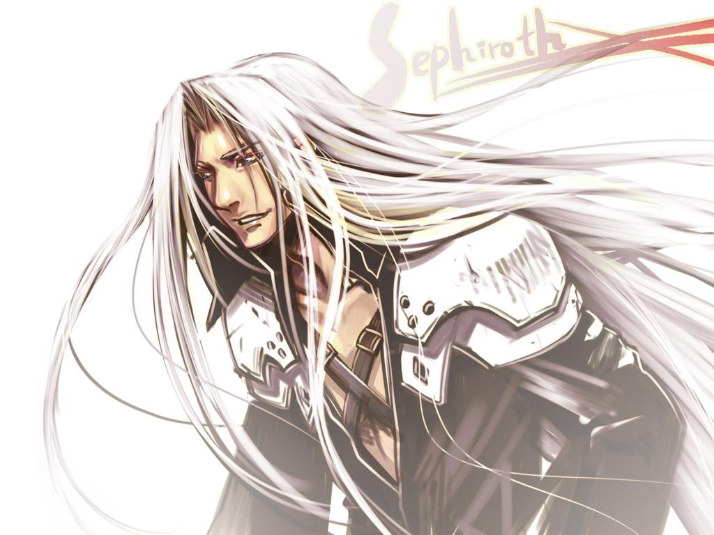 blue_eyes final_fantasy final_fantasy_vii long_hair sephiroth white white_hair