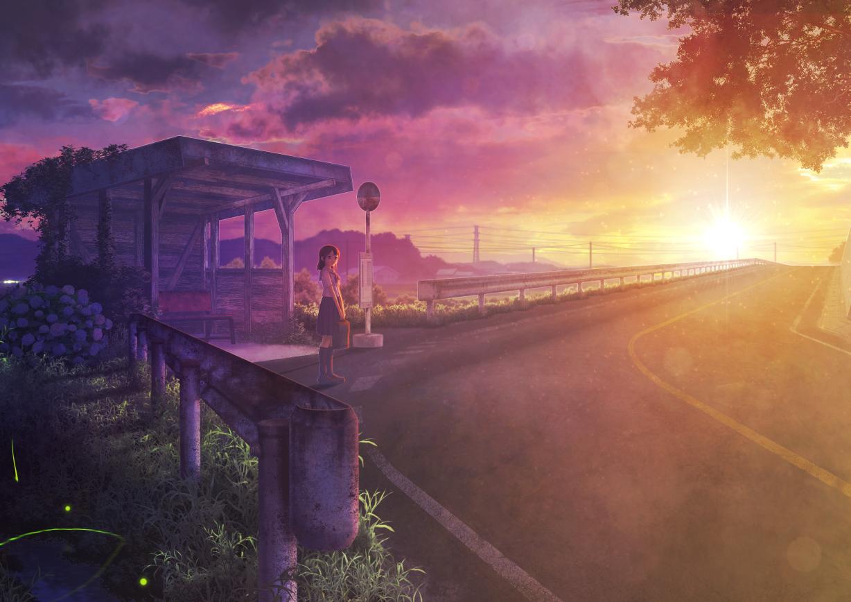 kupe original scenic school_uniform sunset