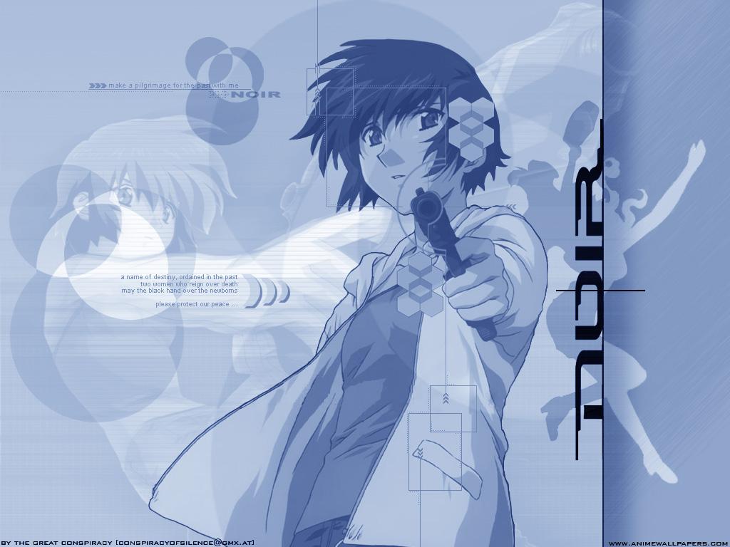 gun noir short_hair weapon yuumura_kirika