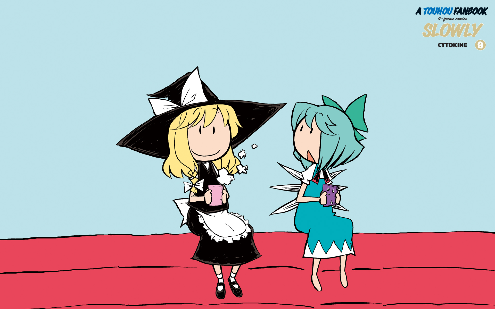 2girls cirno fairy kirisame_marisa touhou witch