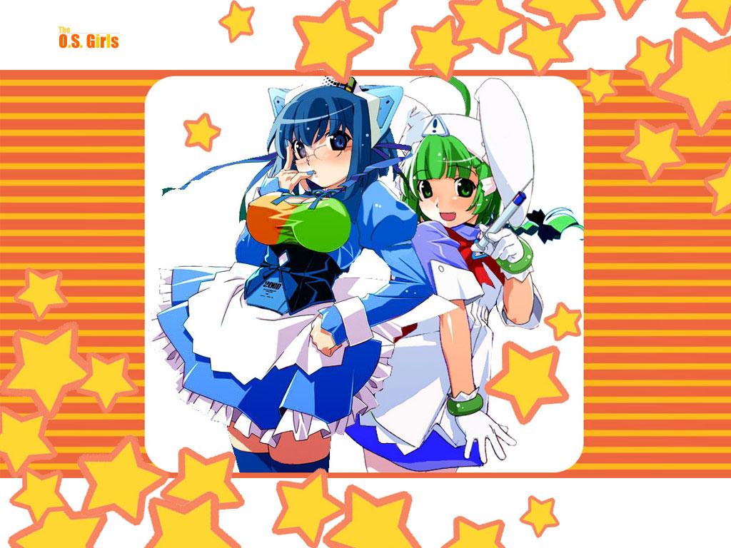 2000 anthropomorphism futaba kokubunji_koyori me nurse nurse_witch_komugi-chan os-tan stars watanabe_akio windows