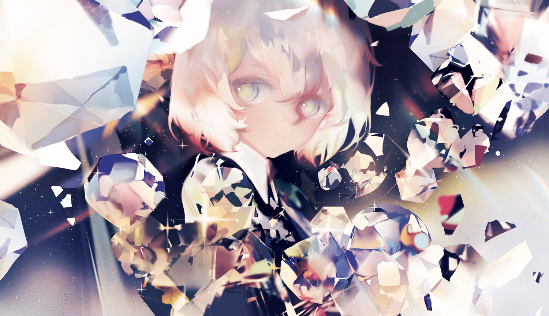 anthropomorphism diamond_(houseki_no_kuni) houseki_no_kuni malu_(maluaya)
