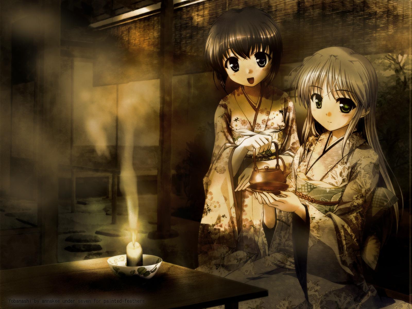 feena_fam_earthlight japanese_clothes kimono mia_clementis yoake_mae_yori_ruri_iro_na