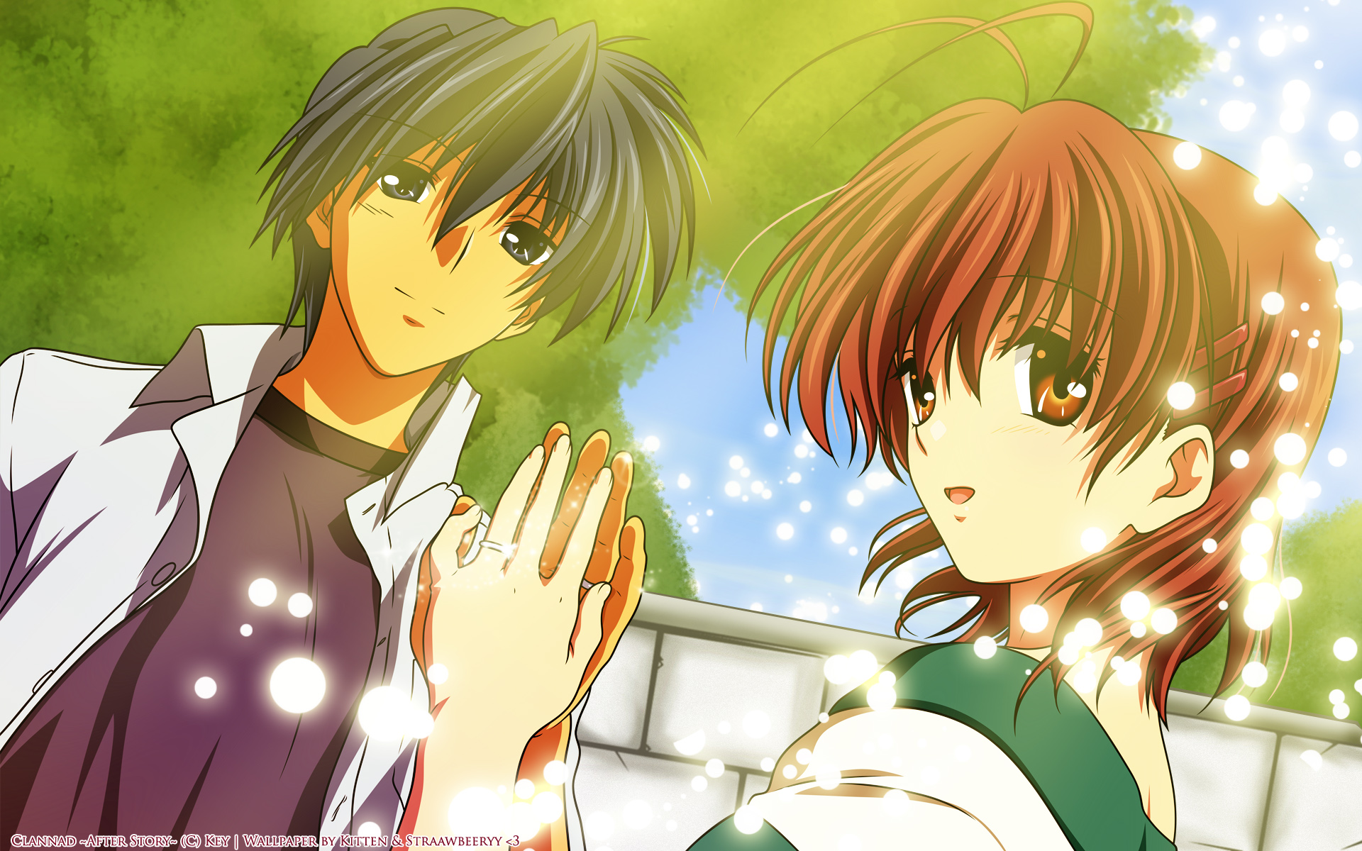 Clannad images Episode 1  On The Hillside Path Where The