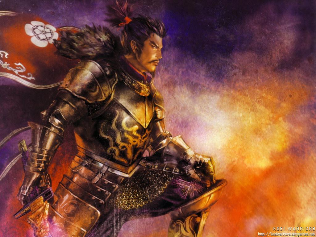 all_male armor fire male nobunaga_oda sword warriors_orochi weapon