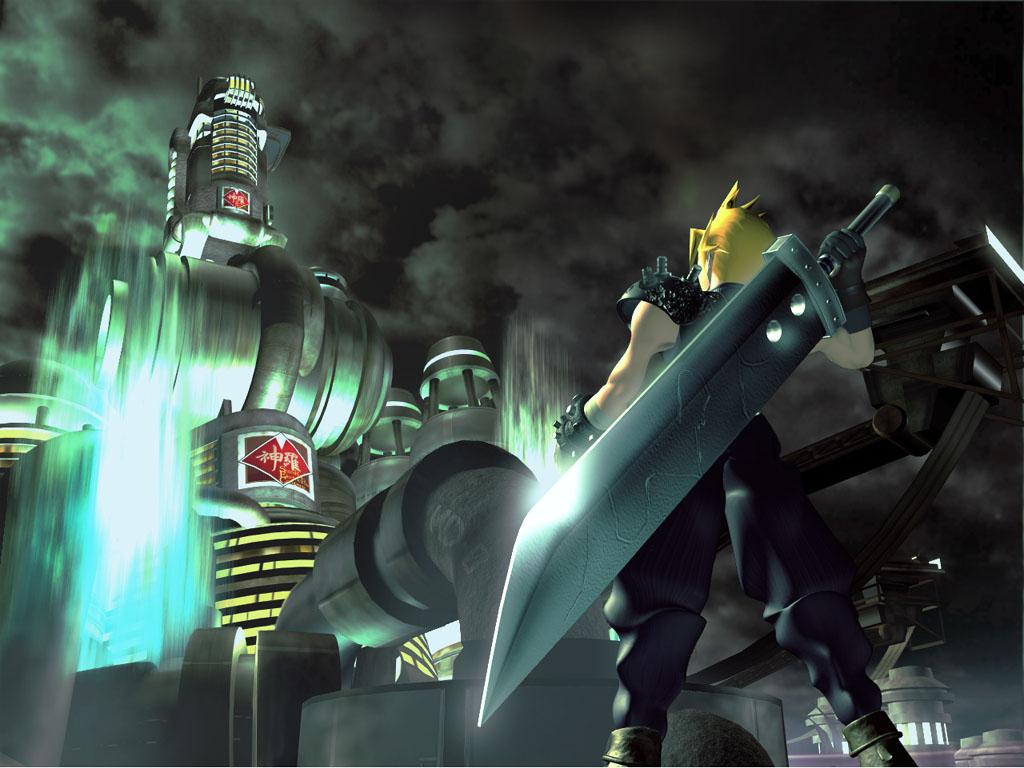 cloud_strife final_fantasy final_fantasy_vii sword weapon