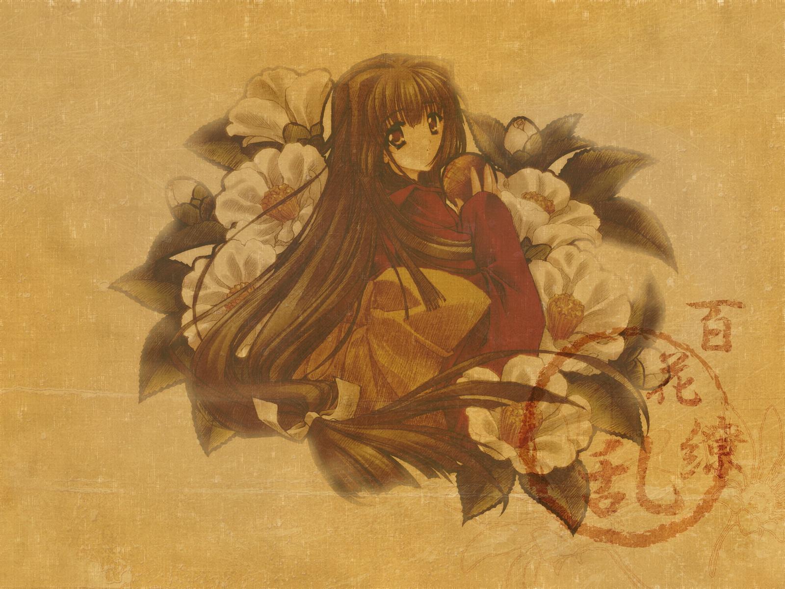 brown carnelian kao_no_nai_tsuki kuraki_mizuna long_hair