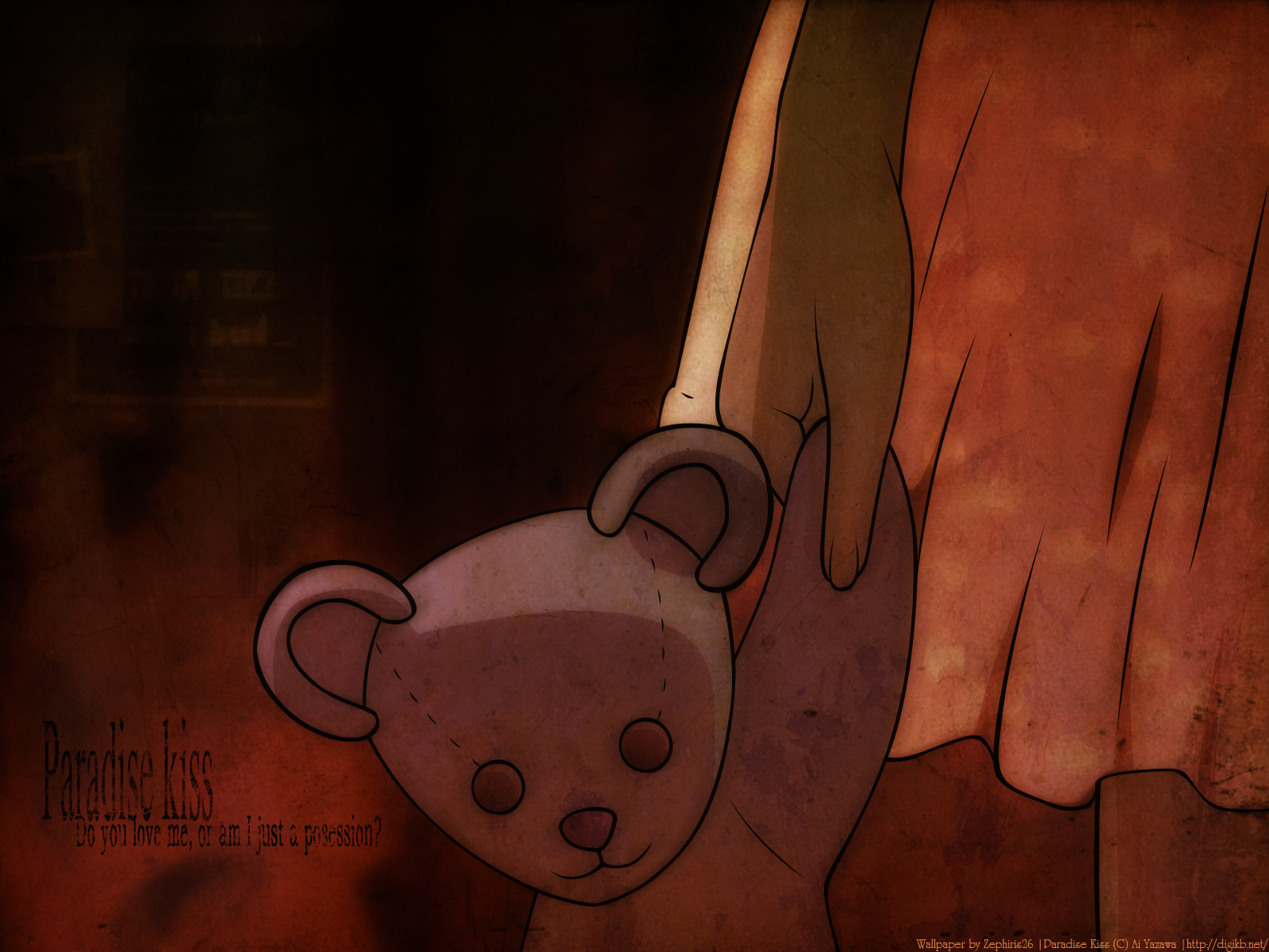 paradise_kiss teddy_bear watermark