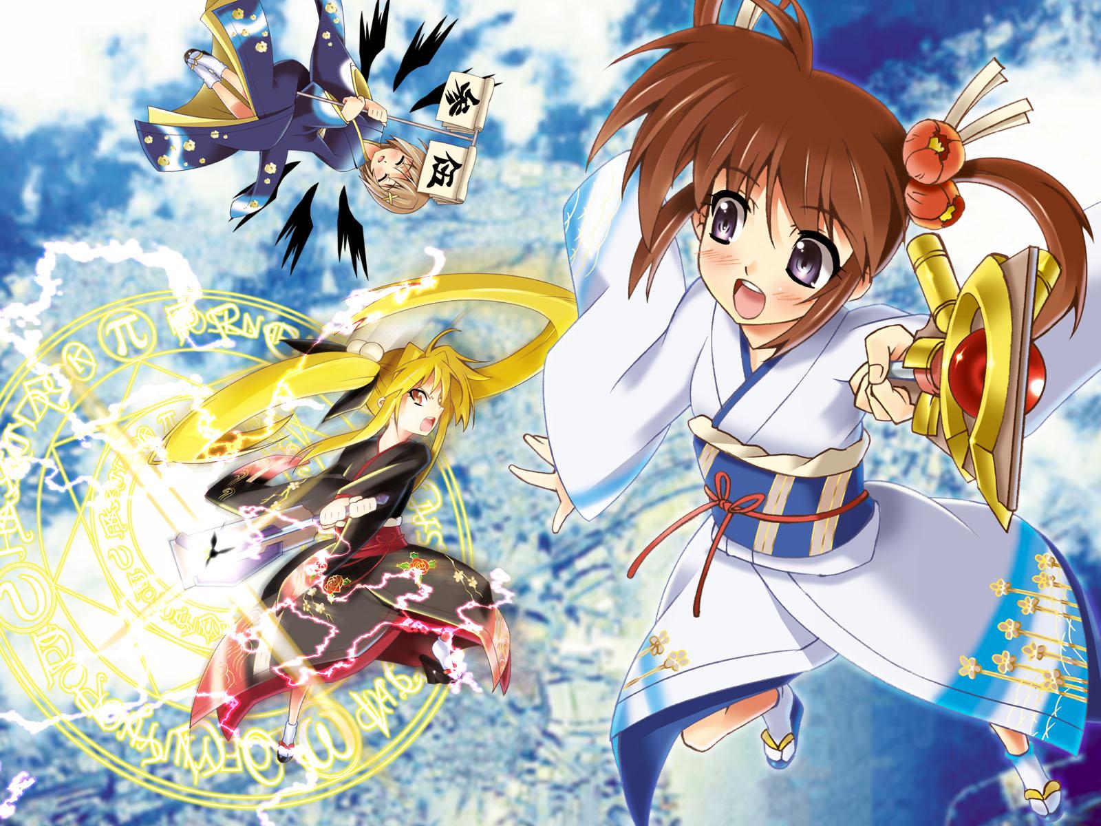 fate_testarossa mahou_shoujo_lyrical_nanoha takamachi_nanoha yagami_hayate