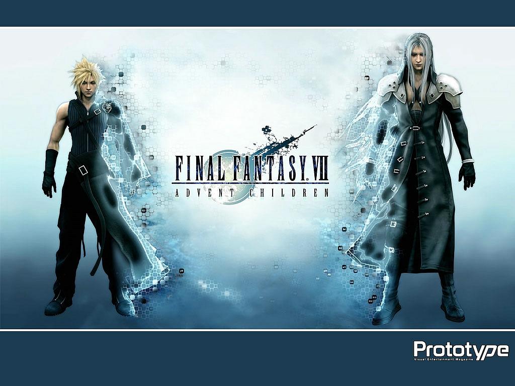 cloud_strife final_fantasy final_fantasy_vii final_fantasy_vii_advent_children sephiroth