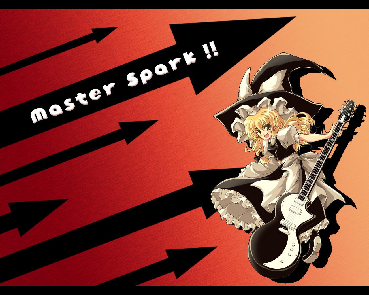 guitar instrument kirisame_marisa touhou witch