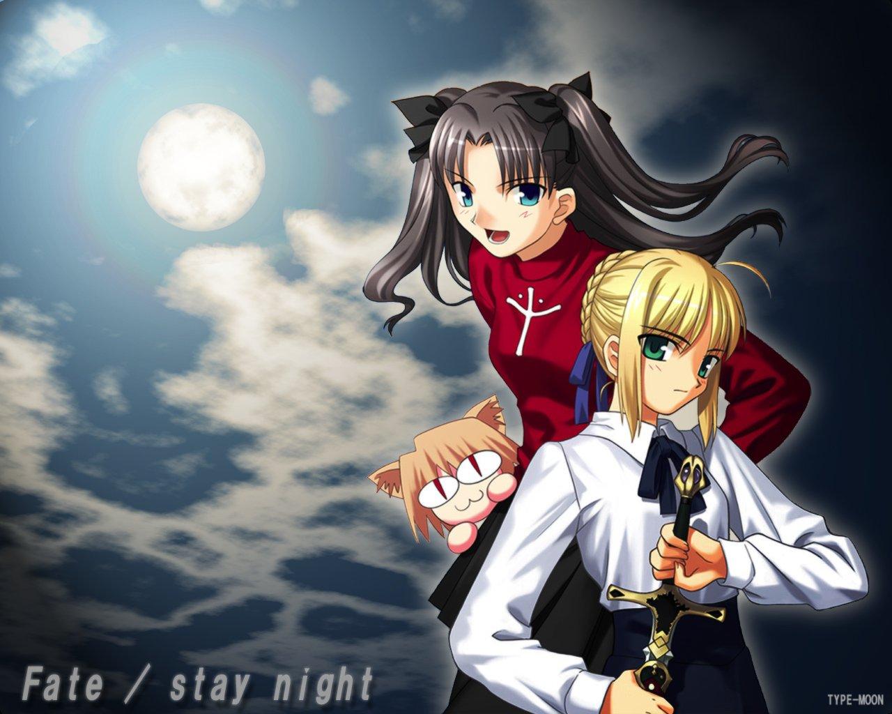 artoria_pendragon_(all) fate_(series) fate/stay_night matou_sakura saber sword weapon