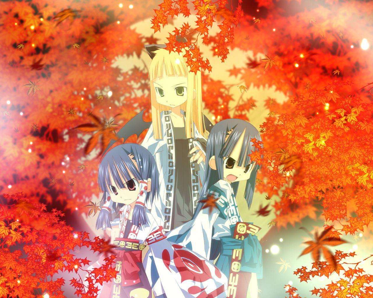 autumn japanese_clothes miko tagme