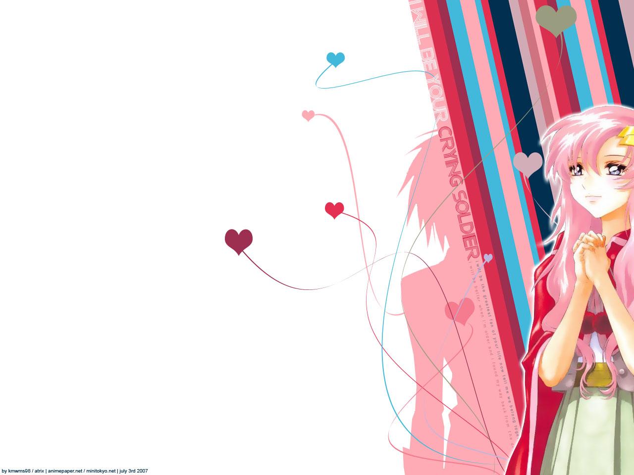 blue_eyes gundam_seed jpeg_artifacts lacus_clyne long_hair mobile_suit_gundam pink_hair white