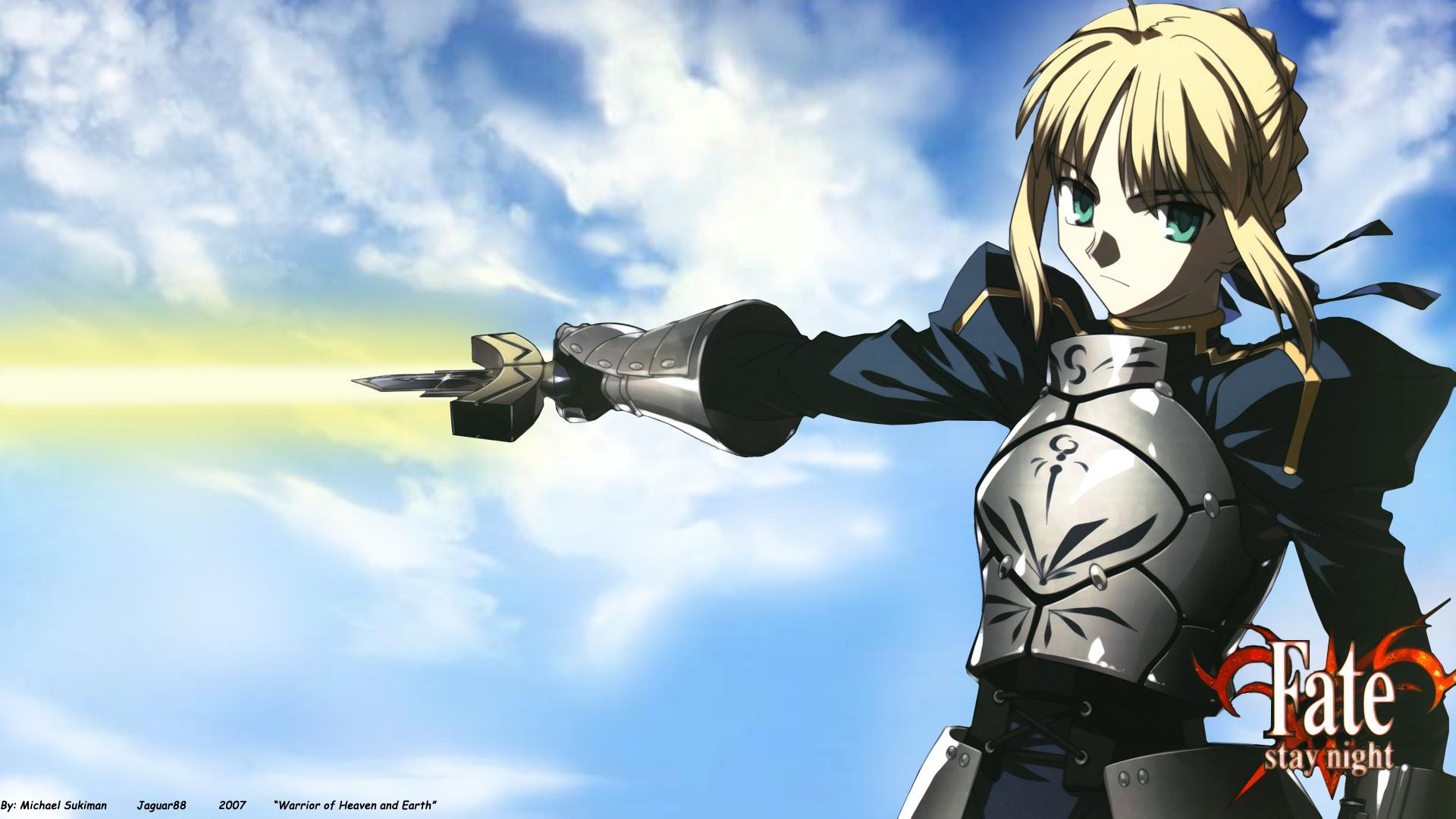 artoria_pendragon_(all) fate_(series) fate/stay_night saber sword weapon