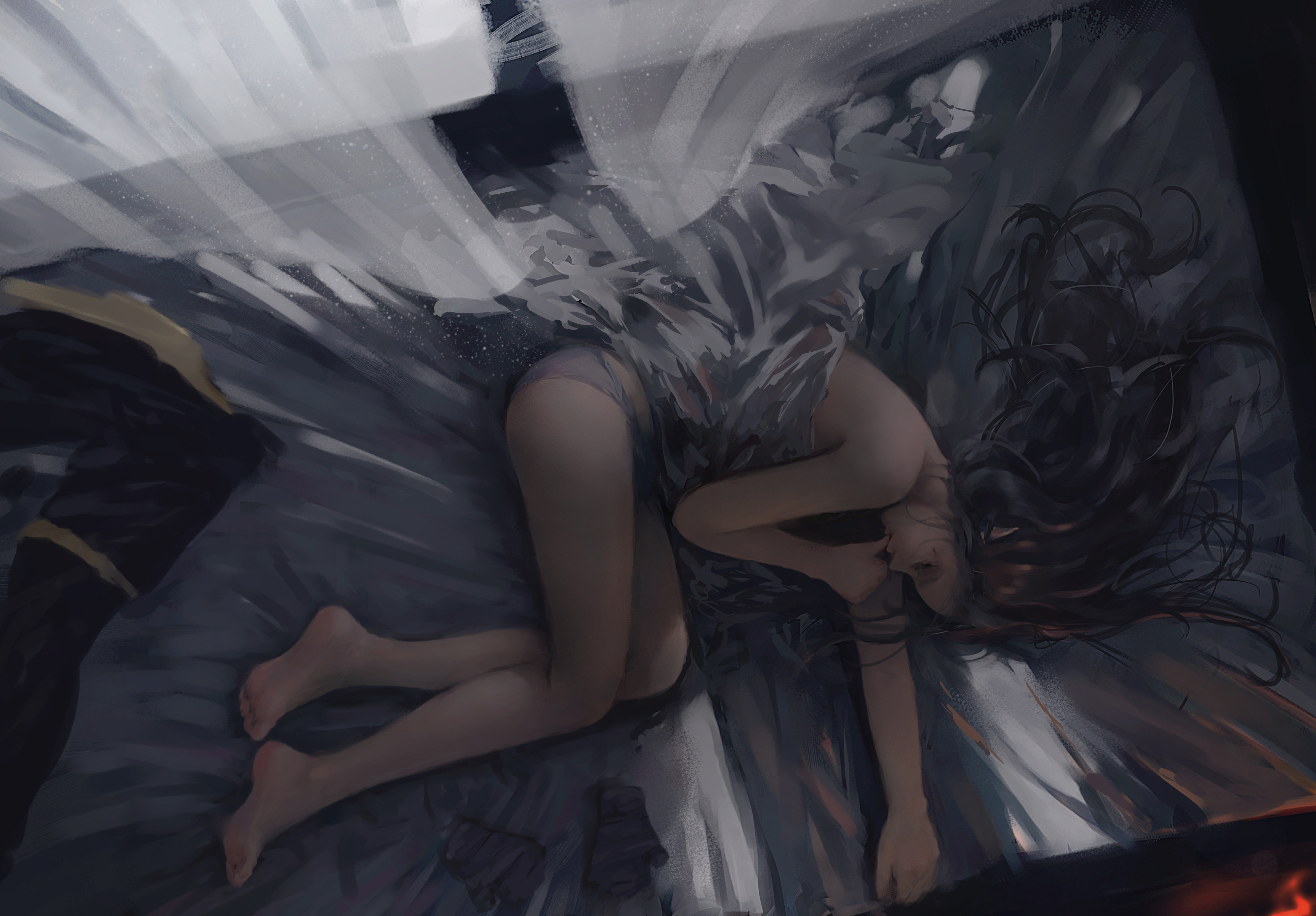 Рисованные спящие девушки картинки 4 фотография