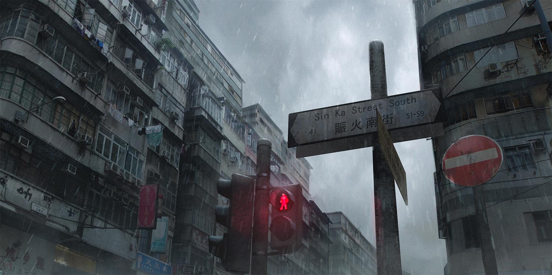 building city izna_(iznatic) nobody original rain scenic water