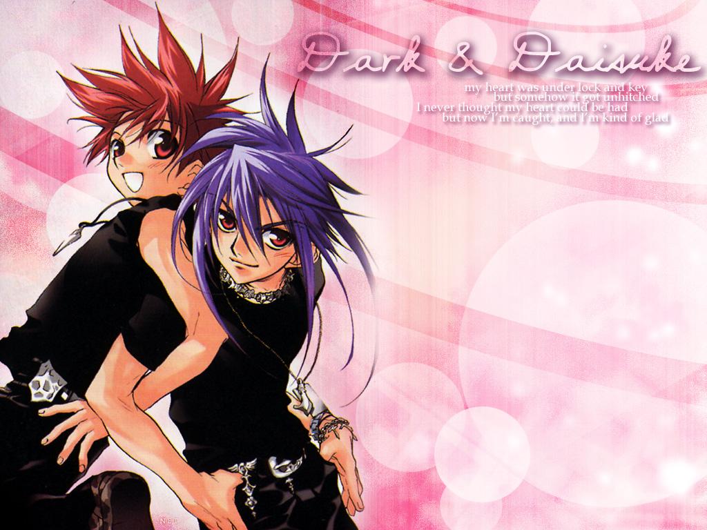 dark_mousy dnangel niwa_daisuke purple_hair red_eyes red_hair sugisaki_yukiru