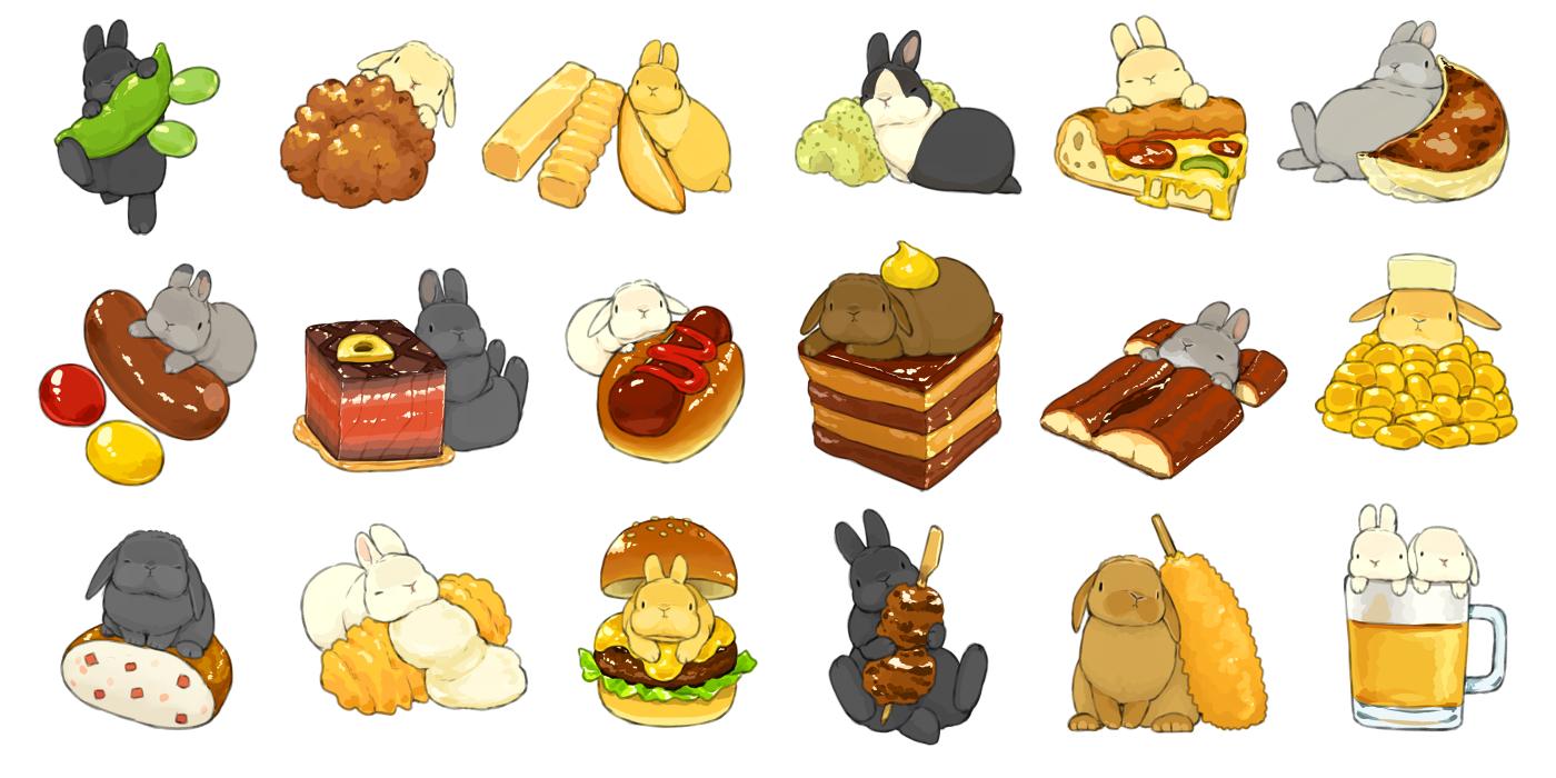 animal drink food lilac_(pfeasy) nobody original pizza rabbit
