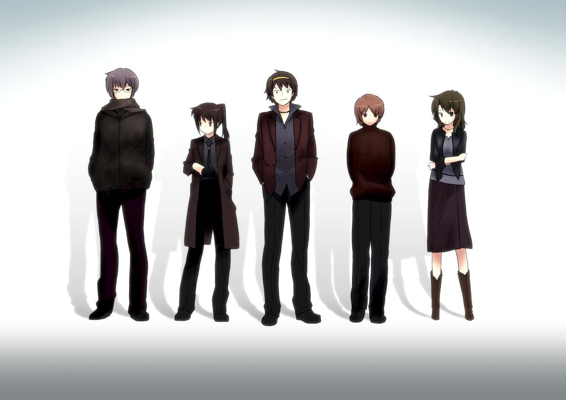 asahina_mikuru genderswap ghost_in_the_shell:_stand_alone_complex group koizumi_itsuki kyonko ling_(cg_sky) miharu nagato_yuki parody suzumiya_haruhi suzumiya_haruhi_no_yuutsu