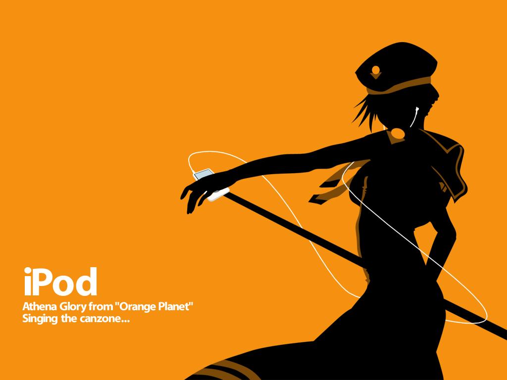 aria athena_glory ipod orange parody silhouette