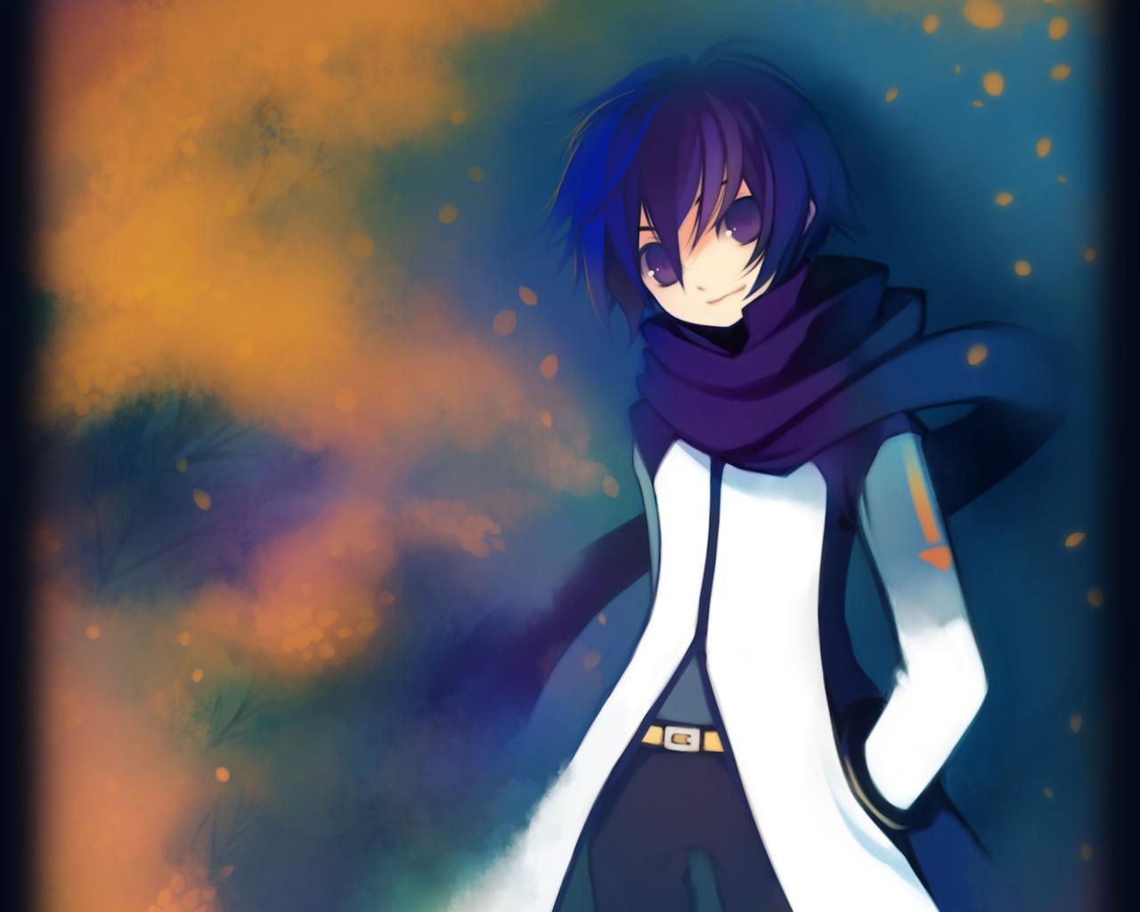 all_male blue_eyes blue_hair kaito male puti_devil scarf vocaloid