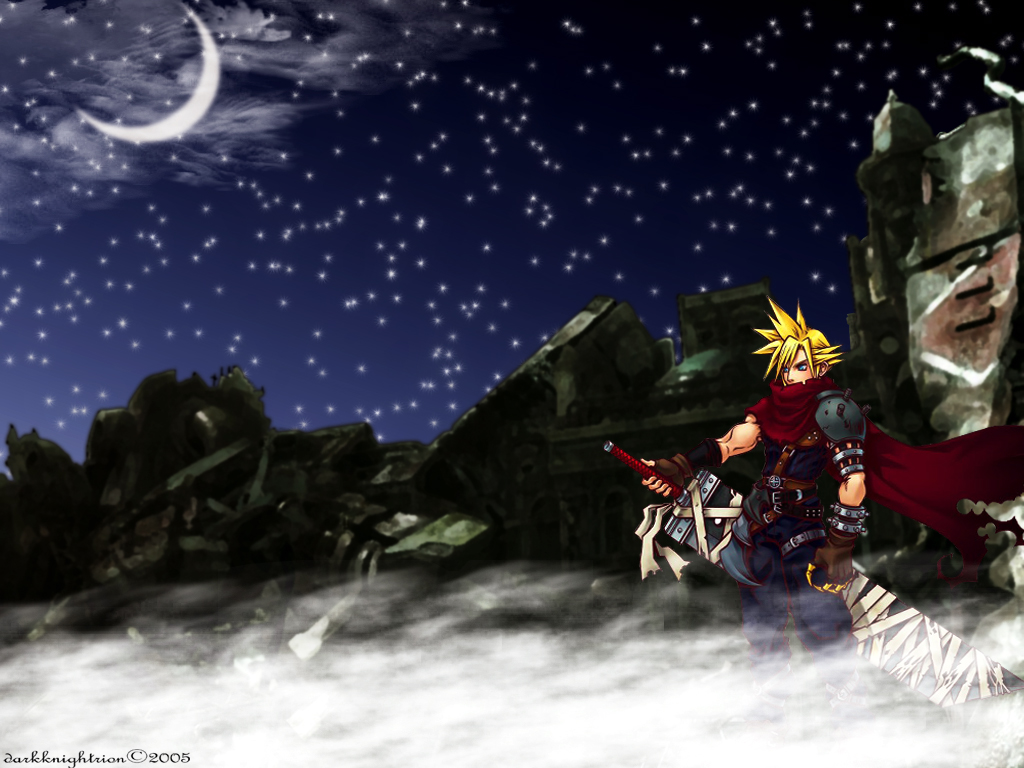 cloud_strife final_fantasy final_fantasy_vii kingdom_hearts