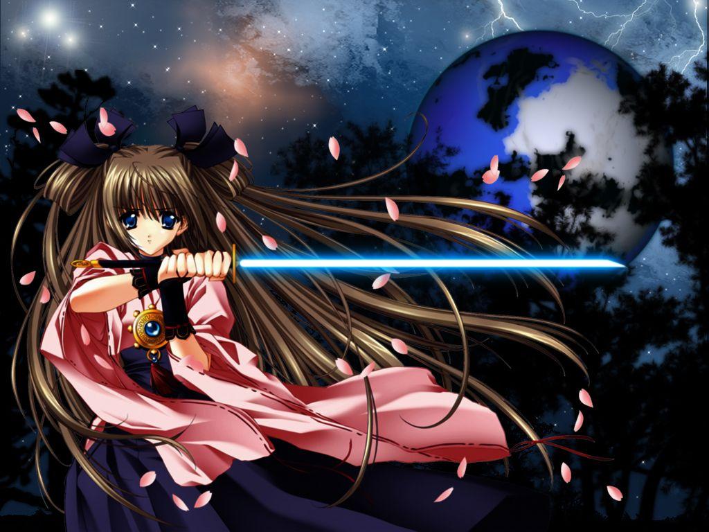 carnelian japanese_clothes miko petals sword weapon