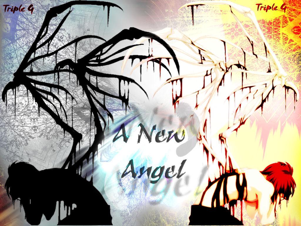 blood bones mirror original red_hair short_hair sideboob skirt tagme_(artist) wings