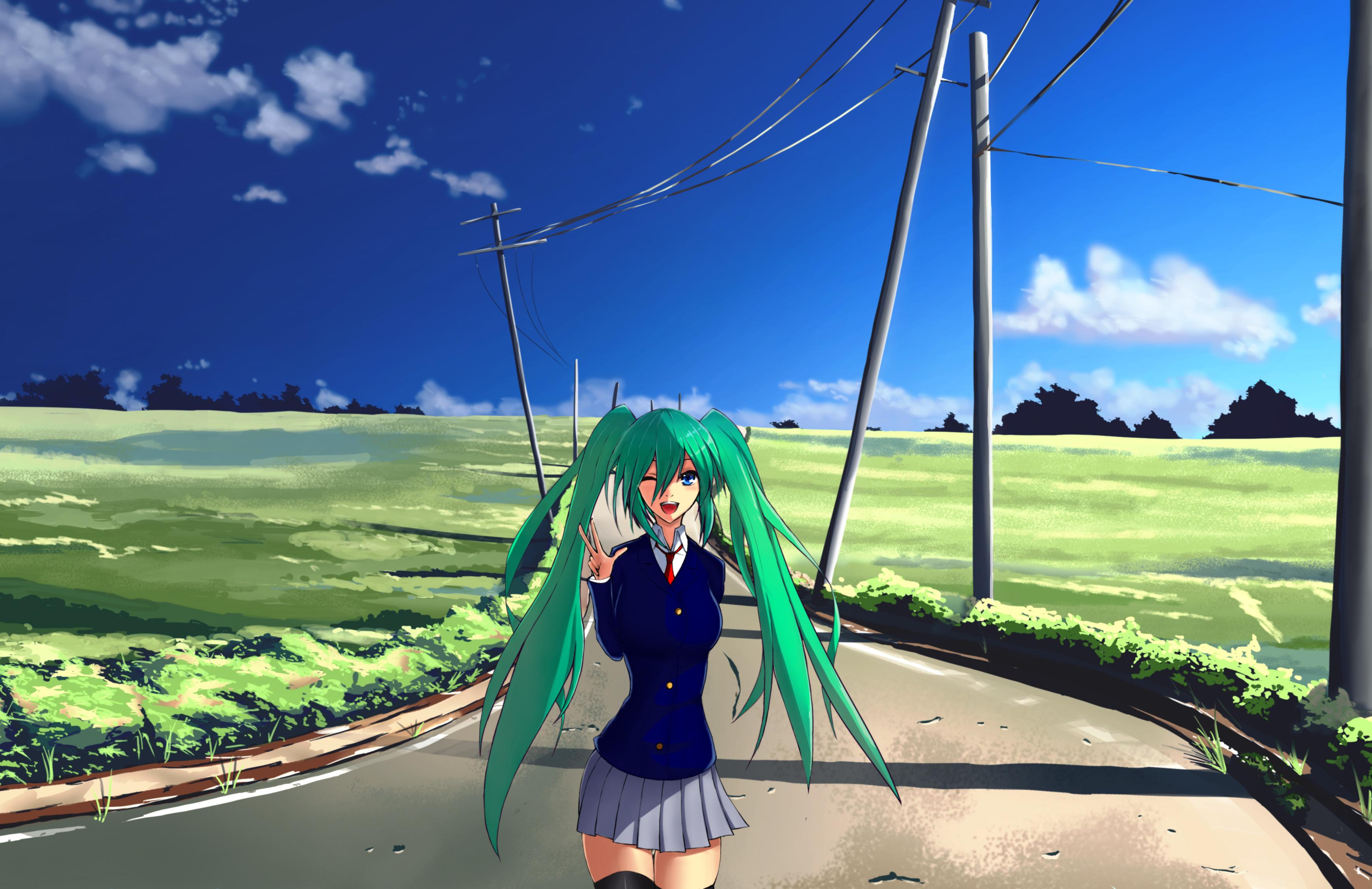 anime landscape hatsune miku - photo #20