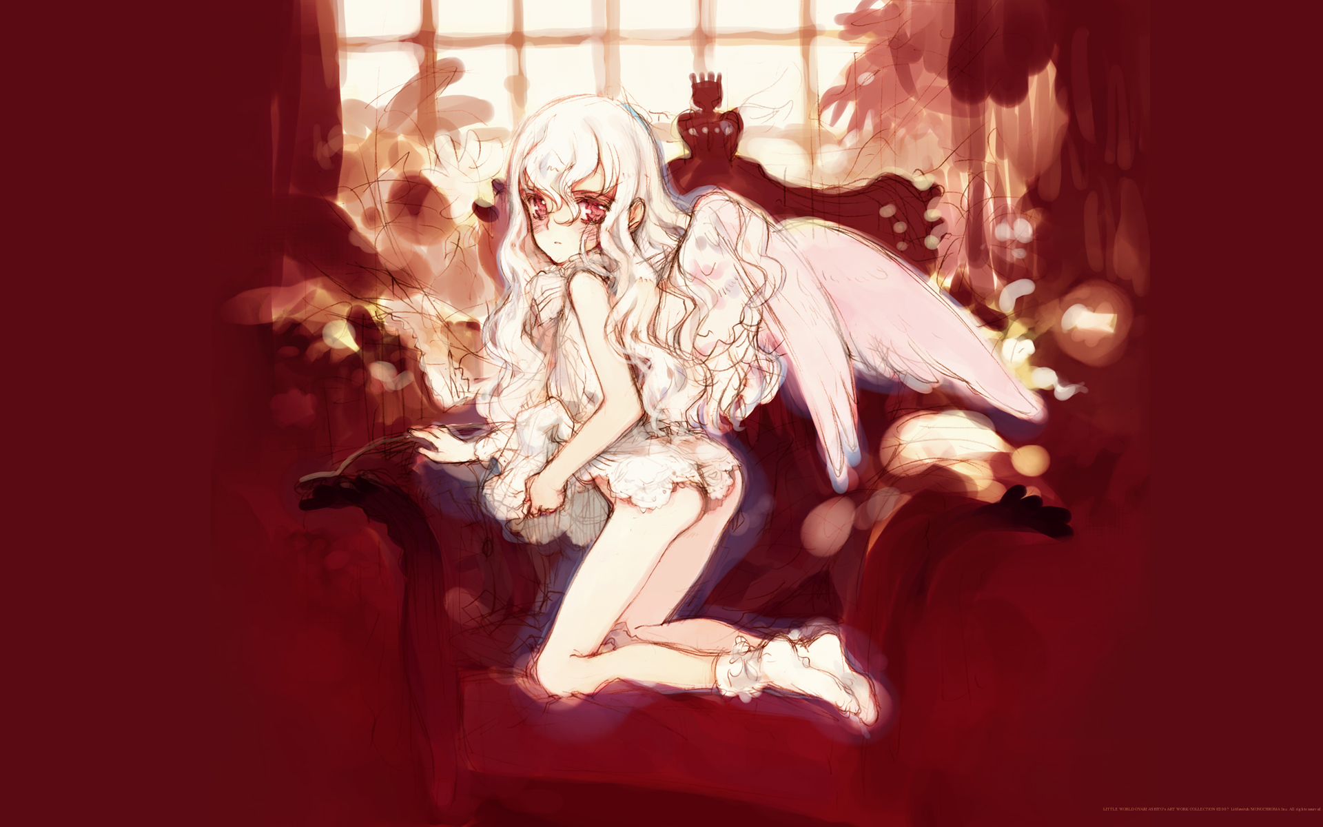 littlewitch oyari_ashito panties red underwear wings