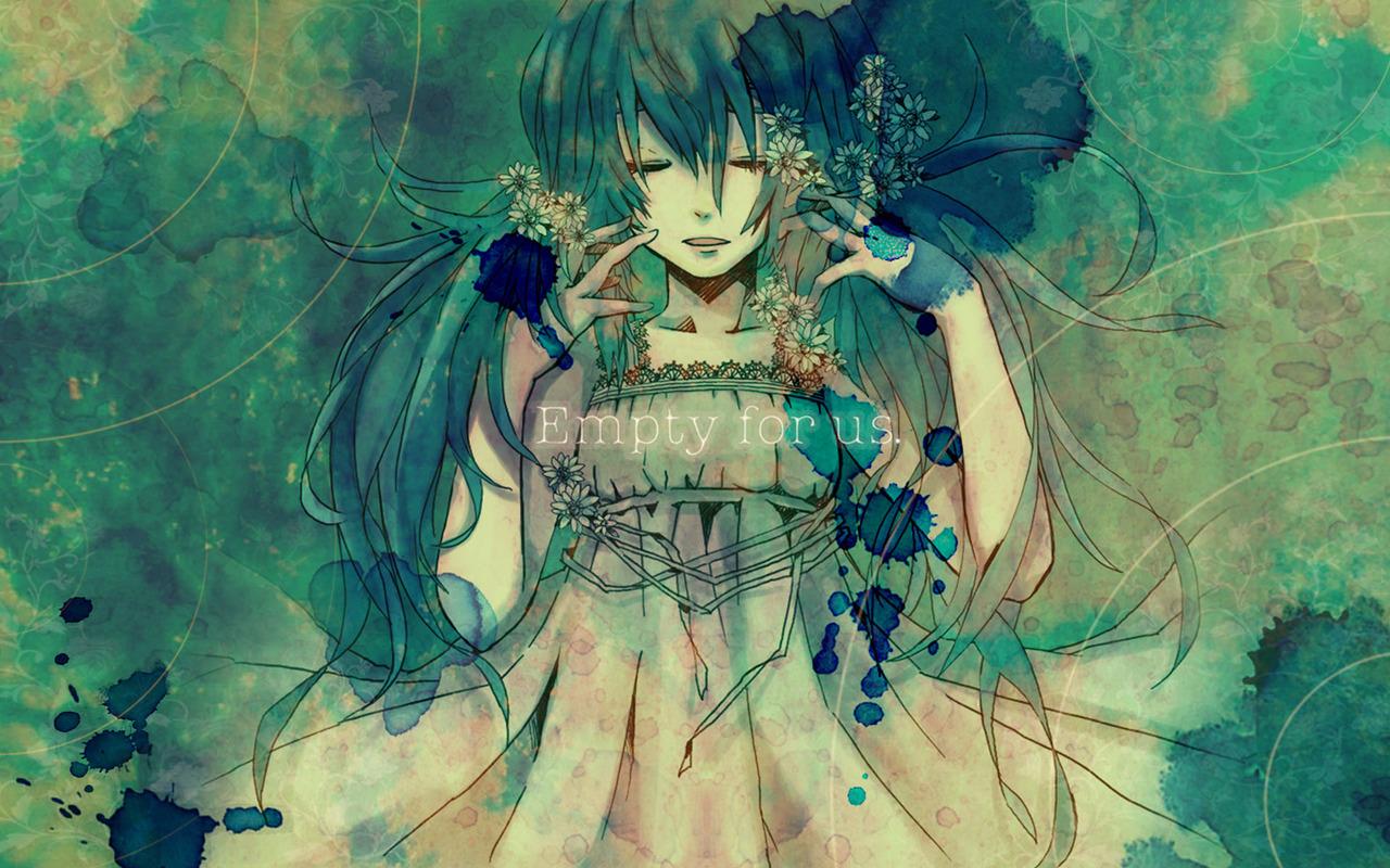 dress flowers gabaisuito-n hatsune_miku vocaloid