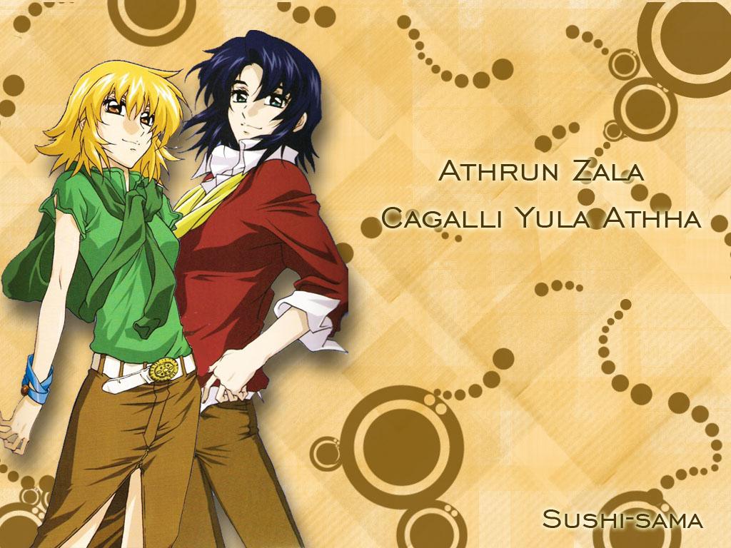 athrun_zala cagalli_yula_athha gundam_seed mobile_suit_gundam