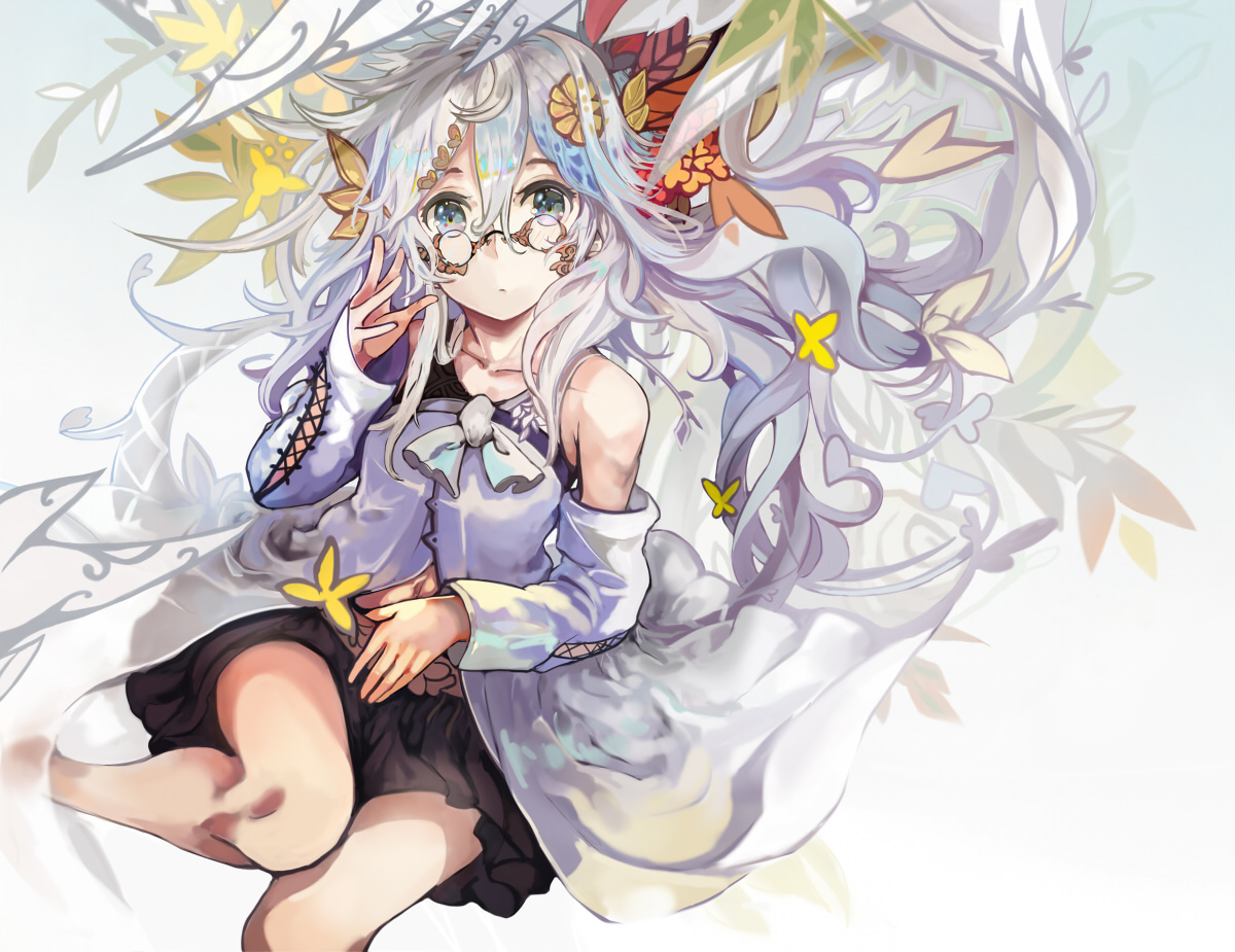 glasses original ryuuri_susuki white_hair