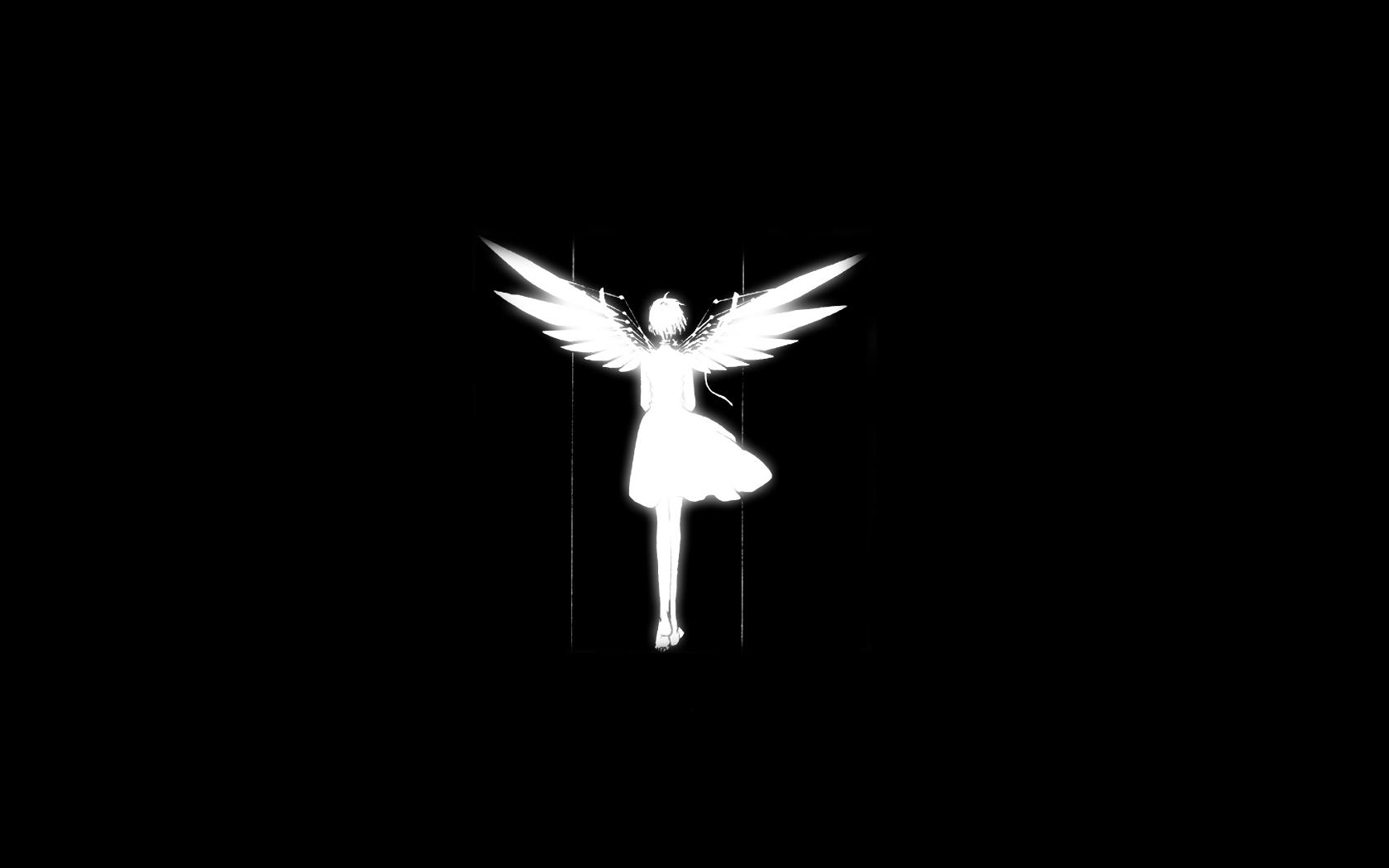 black clamp clover dark silhouette sue_(clover) wings