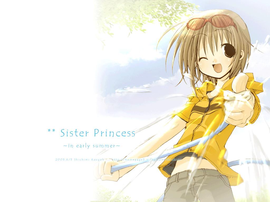 brown_hair glasses minakami_mamoru short_hair shorts sister_princess watermark white