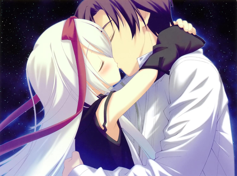 favorite game_cg hoshizora_no_memoria kiss mare_s_ephemeral night shida_kazuhiro sky stars