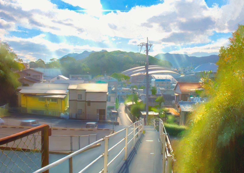 building chikuwa_moyashi city clouds nobody original scenic sky