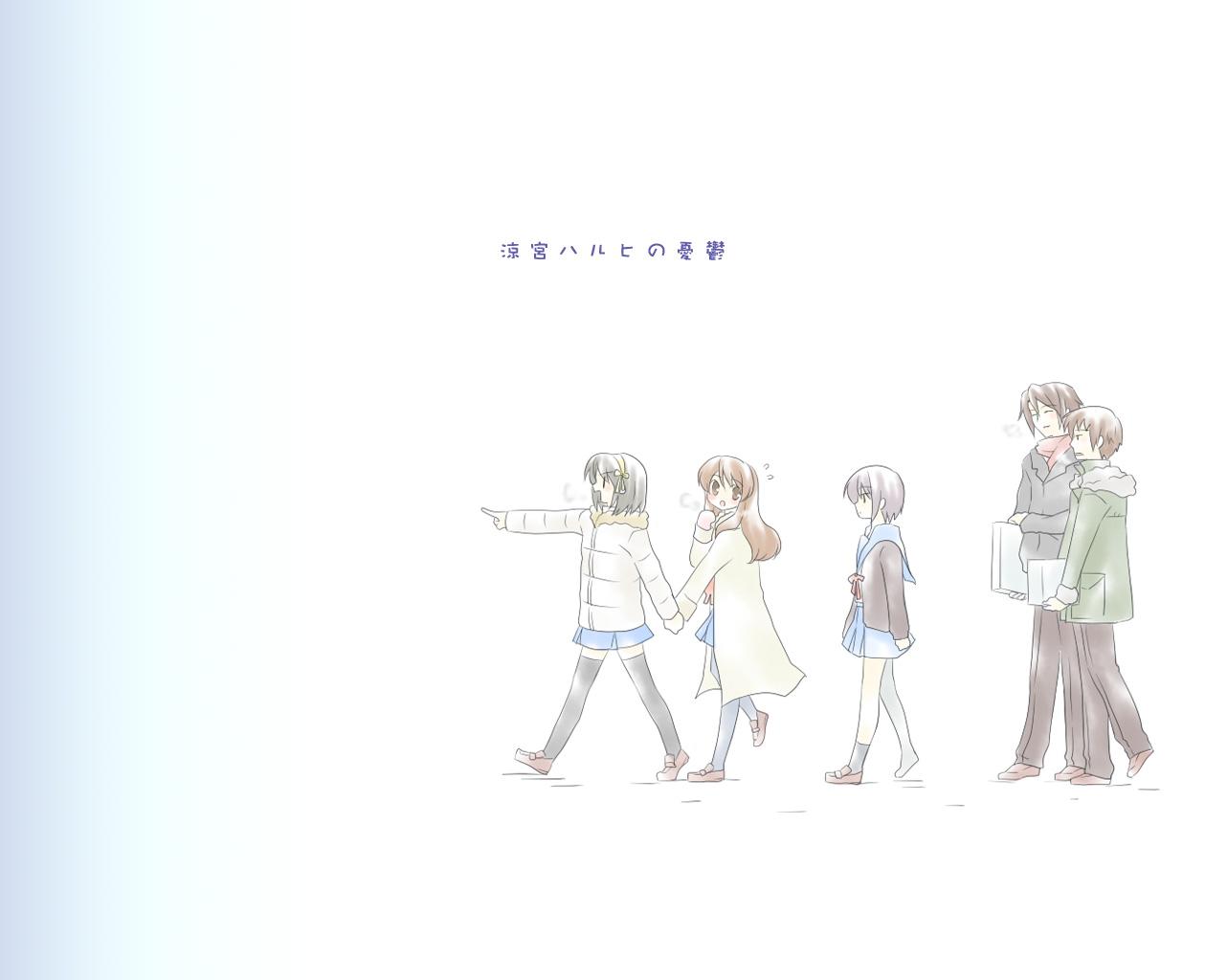 asahina_mikuru group koizumi_itsuki kyon male nagato_yuki suzumiya_haruhi suzumiya_haruhi_no_yuutsu white winter