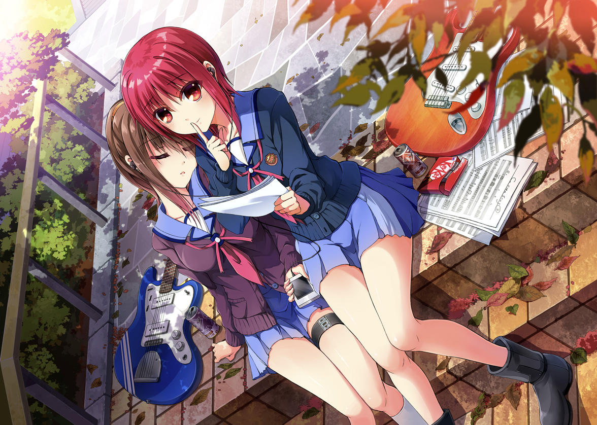2girls angel_beats! hisako iwasawa_masami tazu