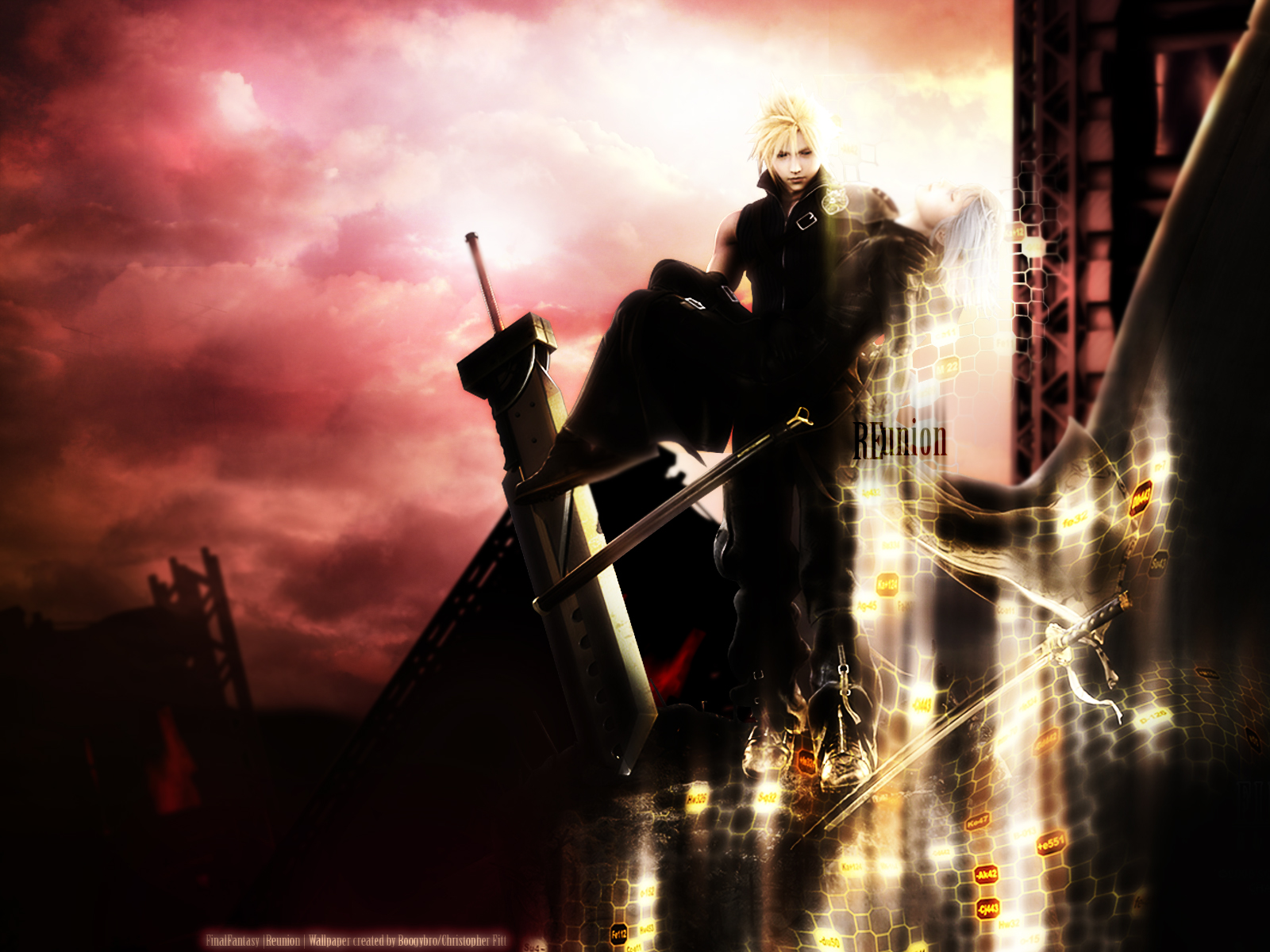 cloud_strife final_fantasy final_fantasy_vii final_fantasy_vii_advent_children kadaj