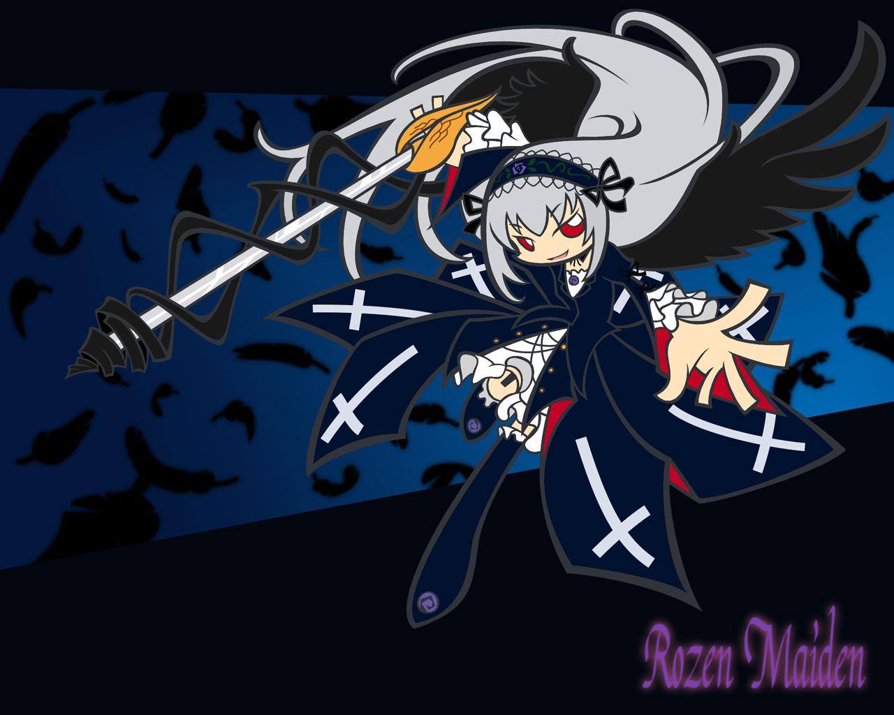doll goth-loli jpeg_artifacts lolita_fashion rozen_maiden suigintou sword weapon