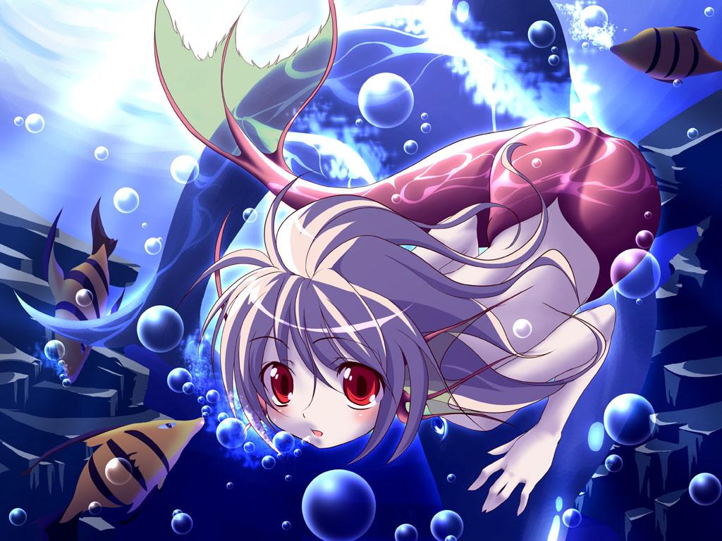 mermaid red_eyes tagme