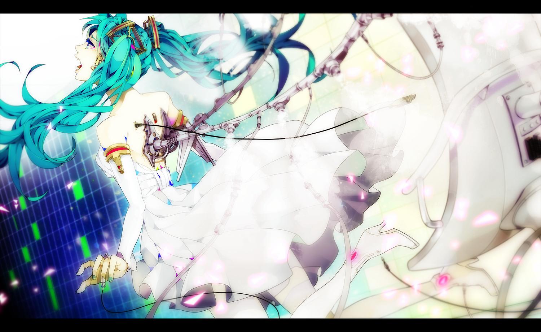 akiakane aqua_hair hatsune_miku twintails vocaloid