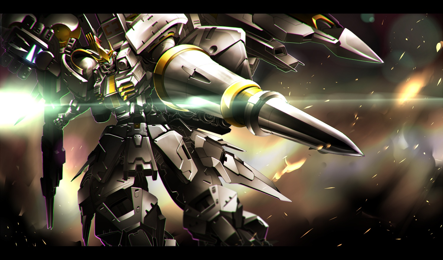 gomi_kushige mecha mobile_suit_gundam robot weapon