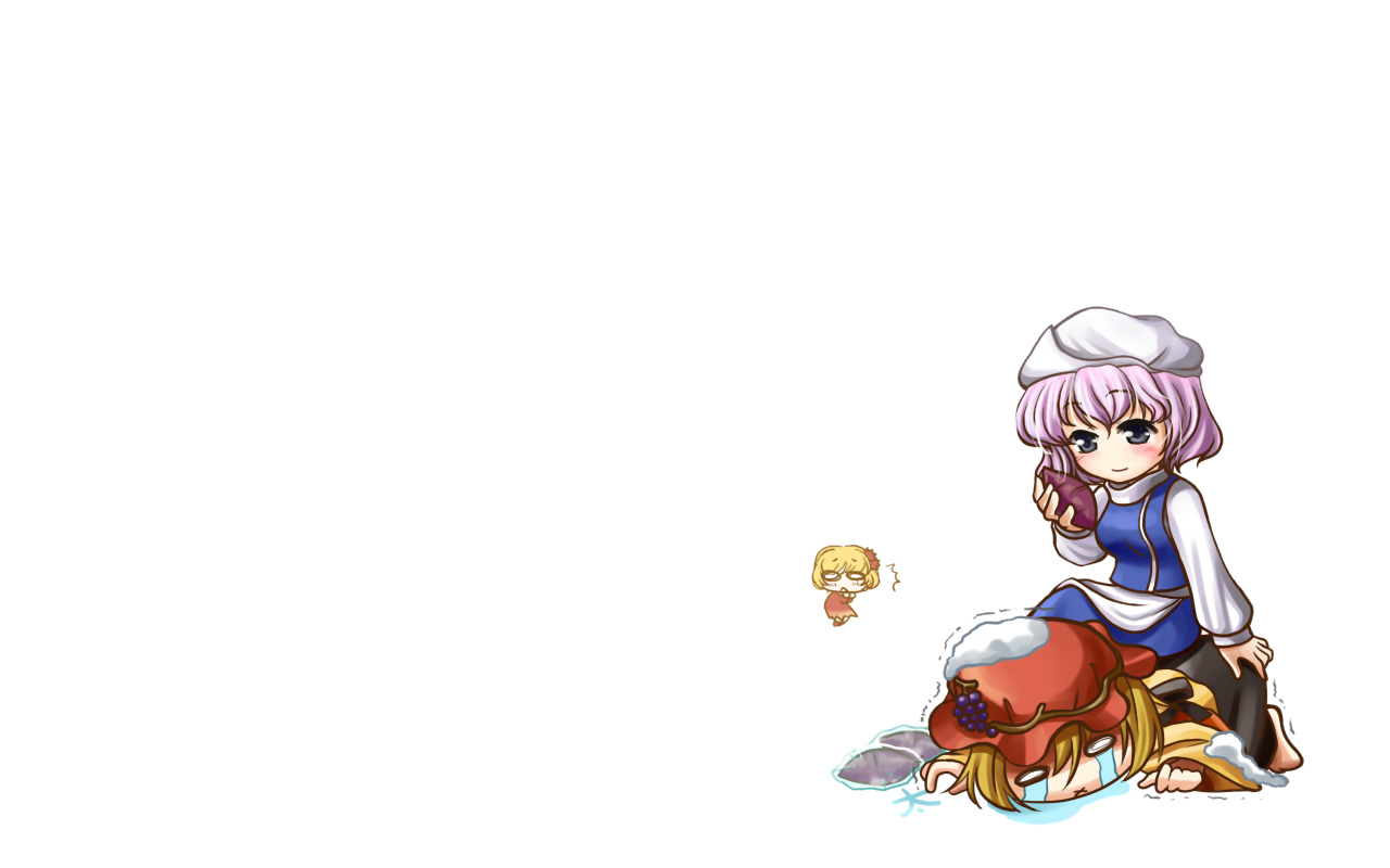 aki_minoriko aki_shizuha food hat kei_(pixiv) letty_whiterock tears touhou